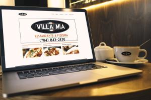 Villa Mia Macbook Pro And Coffe Cup Mockup